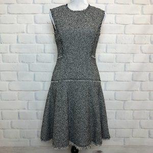 Rebecca Taylor Black White Stretch Tweed Dress